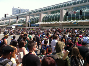 Outside Comi-Con 2014, San Diego Convention Center.