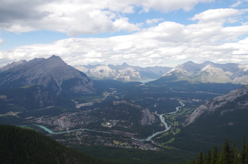 The Rockies from Sulfur Mountain